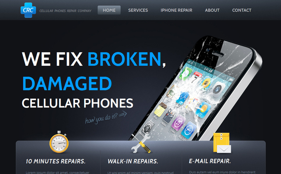 Szablon Moto CMS HTML #42165 na temat: sklep z komórkami New Screenshots BIG