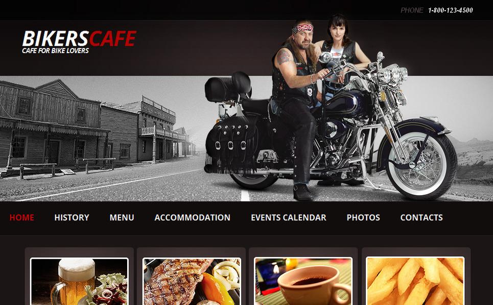 Luxusní Moto CMS HTML šablona na téma Kavárna New Screenshots BIG