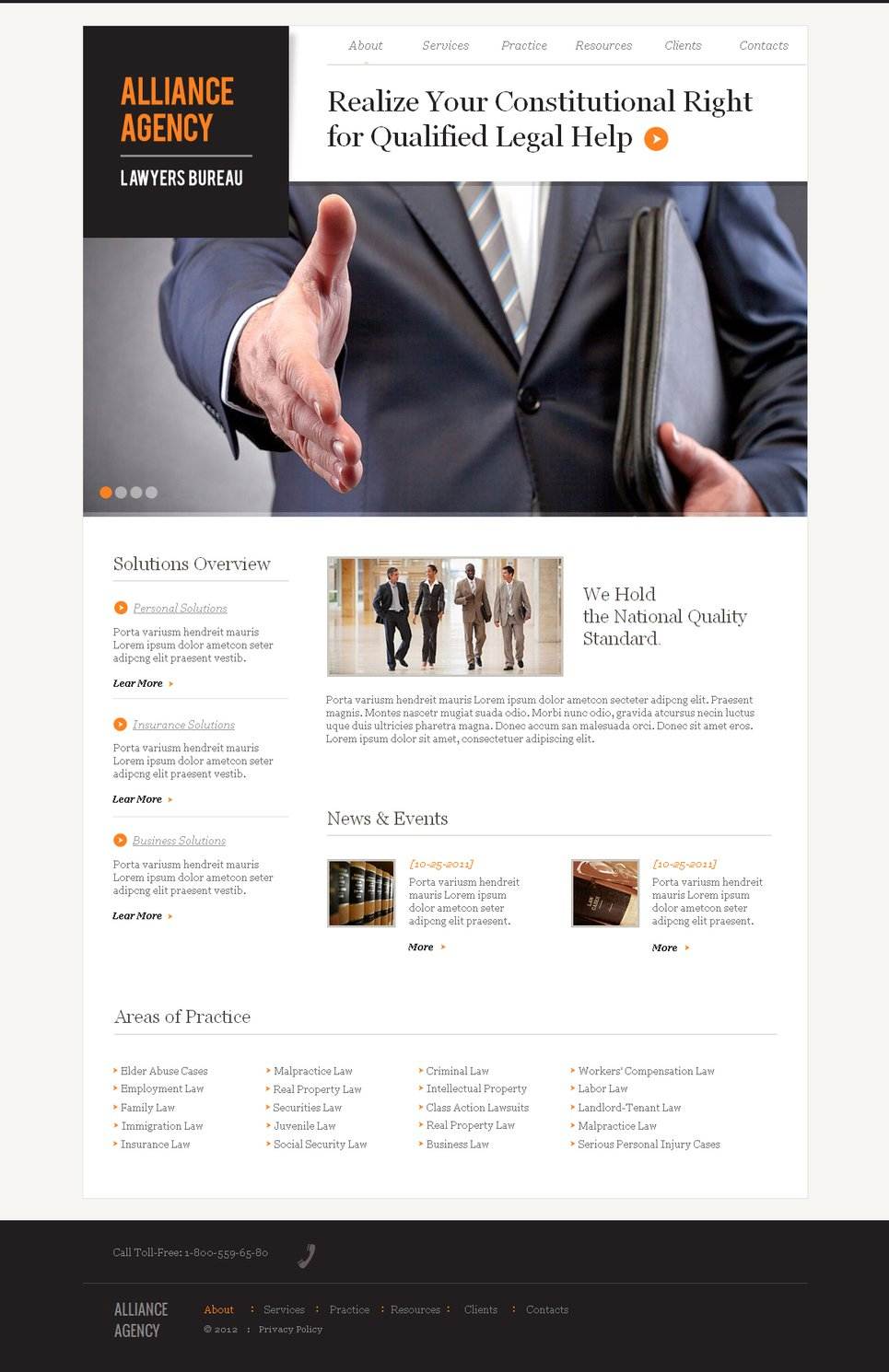 Lawyer Website Template with jQuery Slider - image