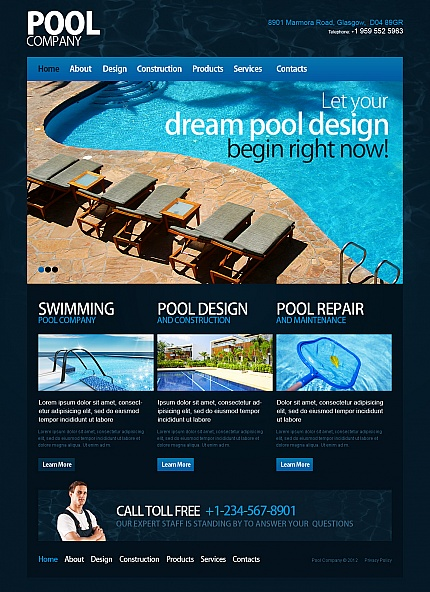 ADOBE Photoshop Template 42172 Home Page Screenshot