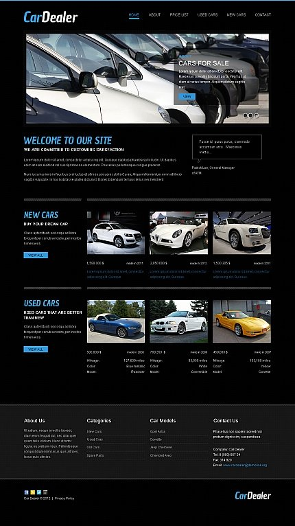 ADOBE Photoshop Template 42176 Home Page Screenshot
