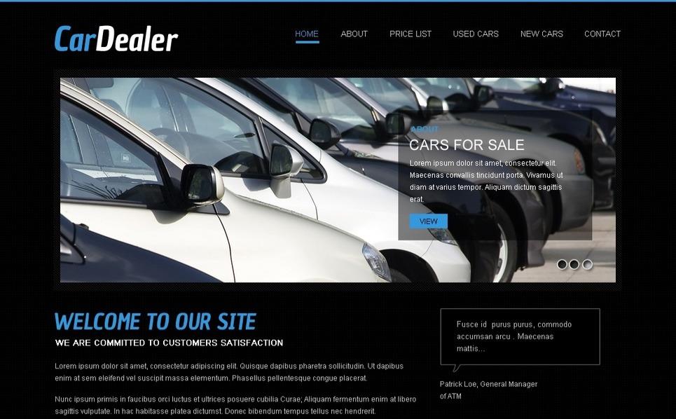 Premium Moto CMS HTML Template over Autohandelaar New Screenshots BIG