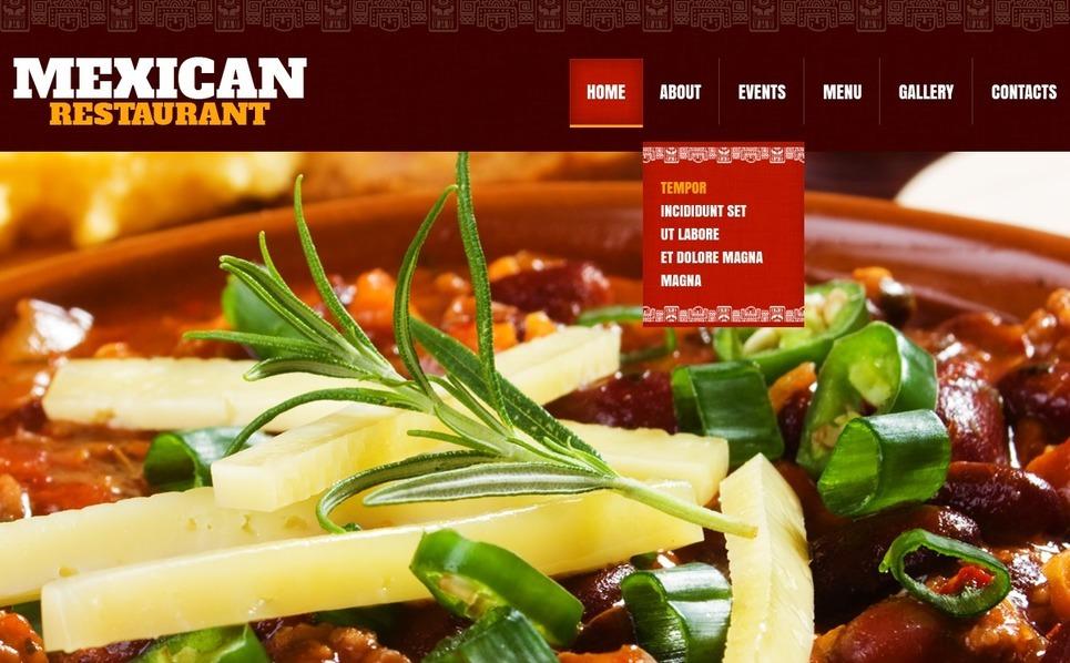 Szablon Strona Www #42181 na temat: restauracja meksykańska New Screenshots BIG