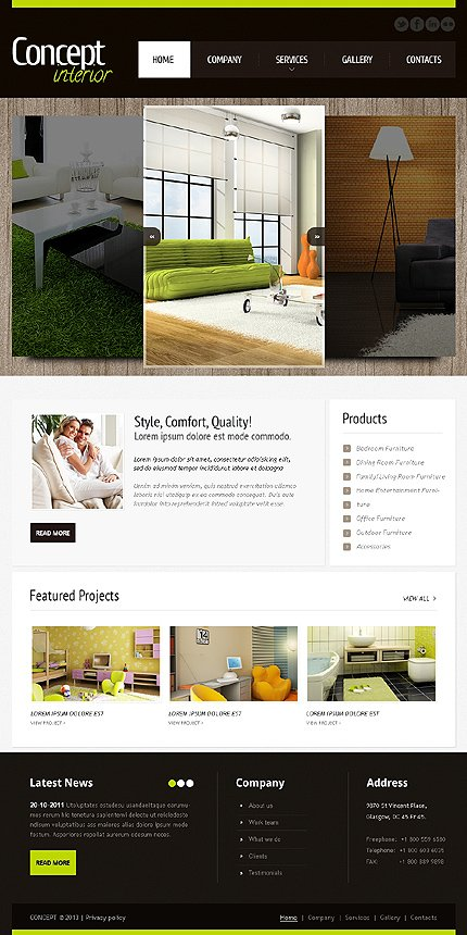 ADOBE Photoshop Template 42182 Home Page Screenshot