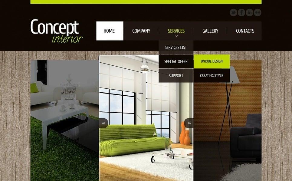室内设计师网站PSD模板 New Screenshots BIG
