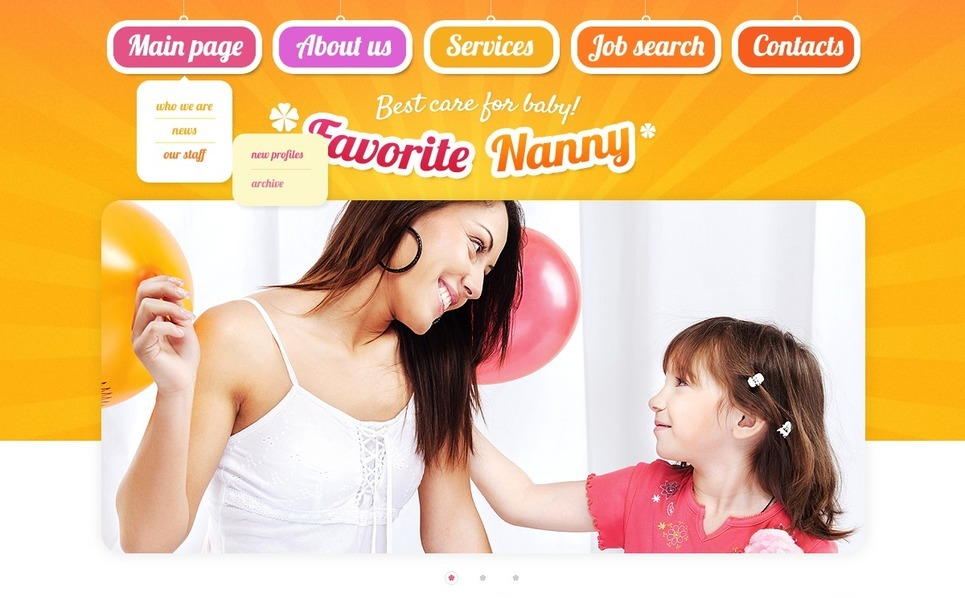 Template Siti Web  #42184 per Un Sito di Babysitter New Screenshots BIG