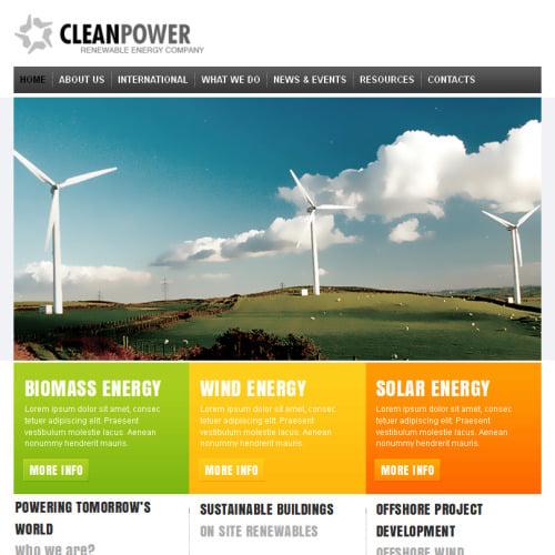 Clean Power - Facebook HTML CMS Template