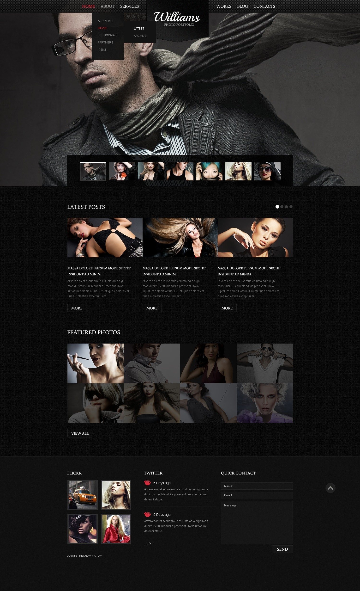Black Photography Drupal sablon 42156