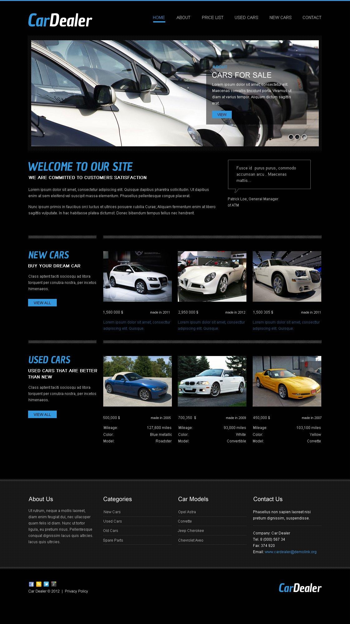 Car Dealer Moto CMS HTML Template