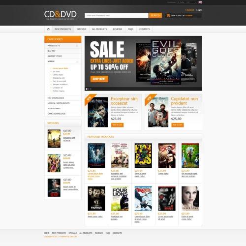 Cd & Dvd - ZenCart Template