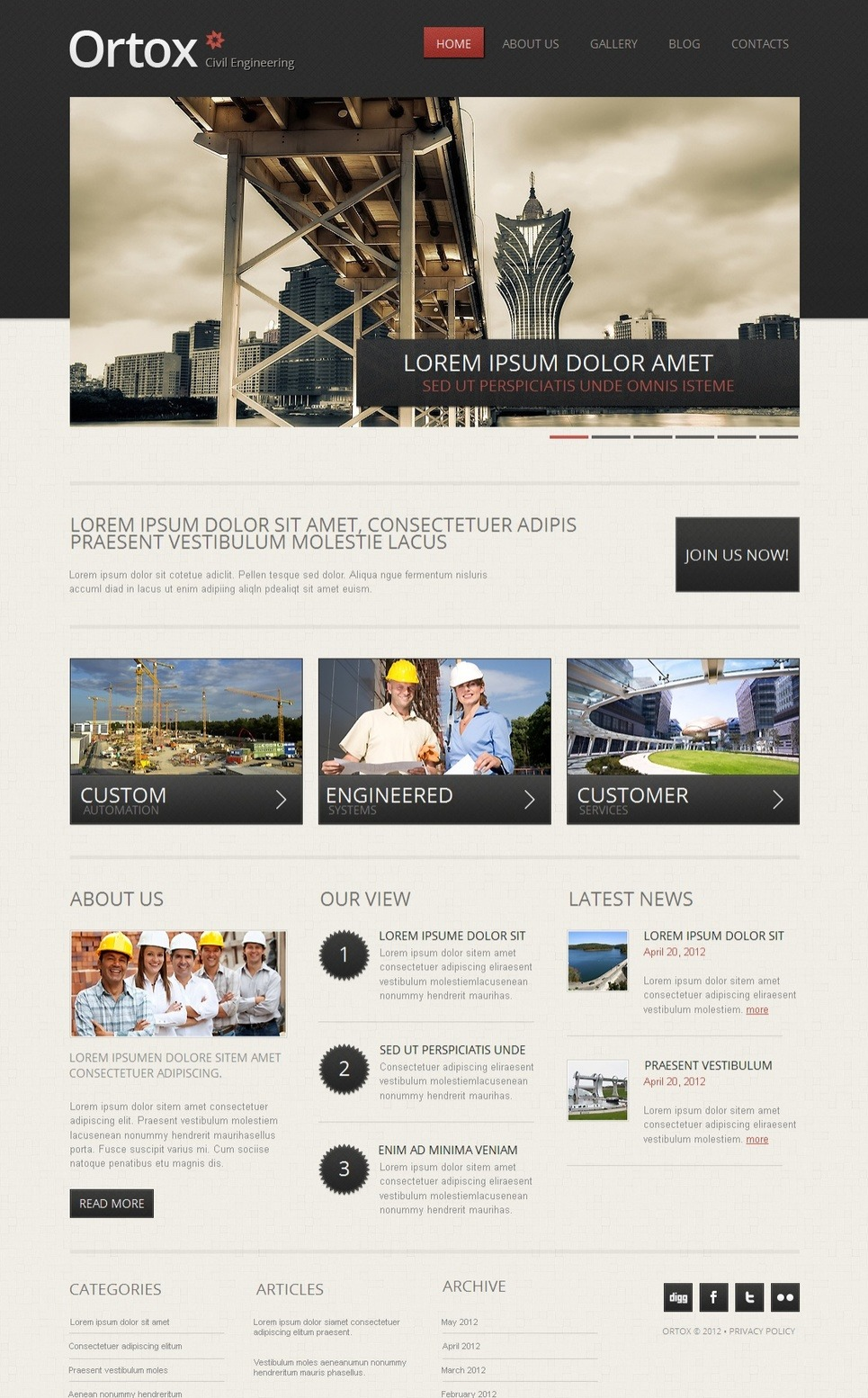 Civil Engineering Moto CMS HTML Template New Screenshots BIG
