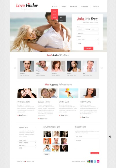 best template for dating site Wordpress is ideal to create online community or dating websites learn what  features you need and choose the best wordpress dating theme.