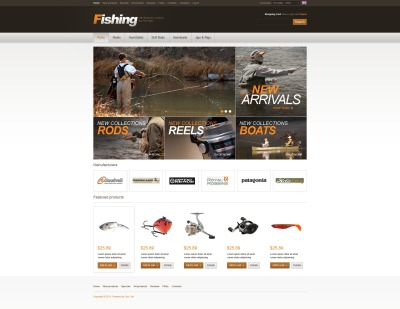 Fishing Store ZenCart Template #42193