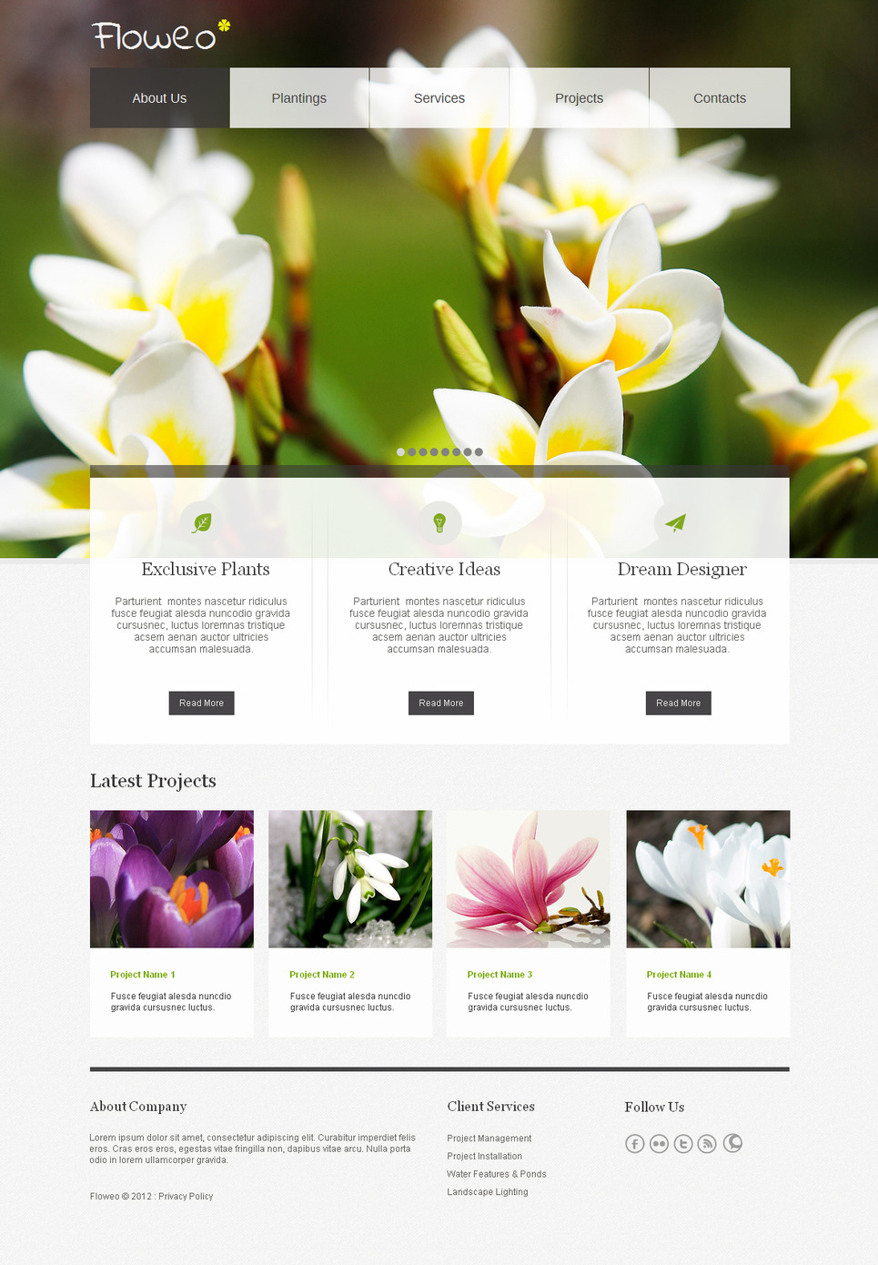 Flowers Moto CMS HTML Template New Screenshots BIG