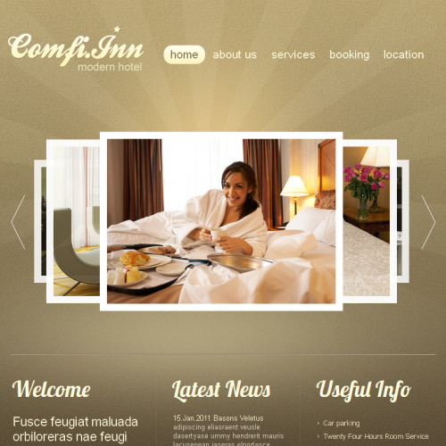 Comfi Inn - Facebook HTML CMS Template