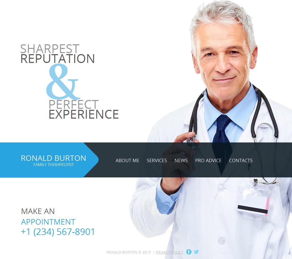 Luxusní Moto CMS HTML šablona na téma Zdravotní #42168