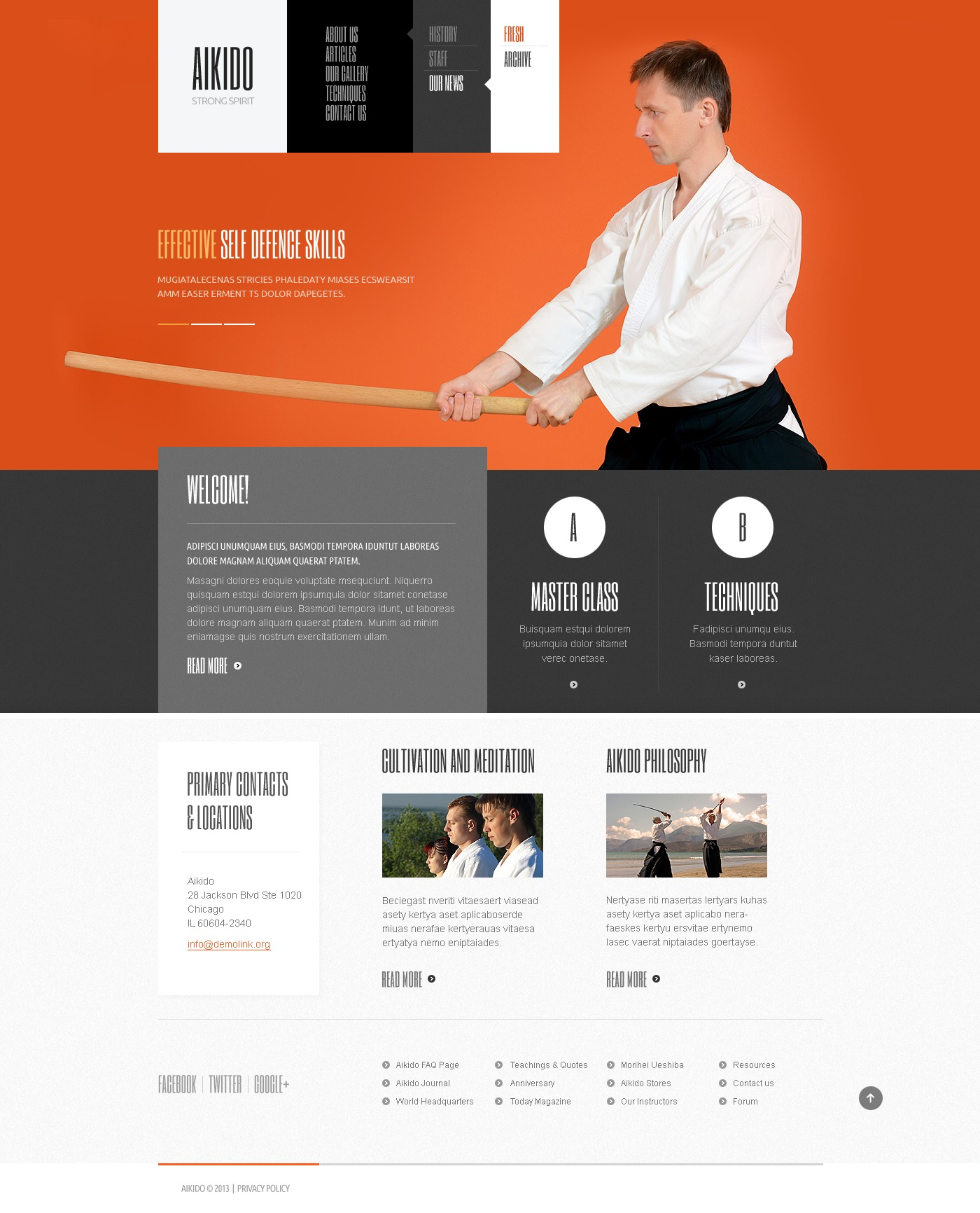 Martial arts website template 42183 martial arts website template yelopaper Gallery