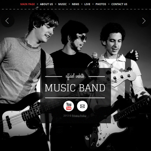 Music Band - Facebook HTML CMS Template