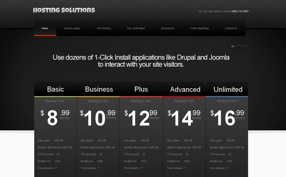 Template Moto CMS HTML para Sites de Hospedagem №42166 New Screenshots BIG