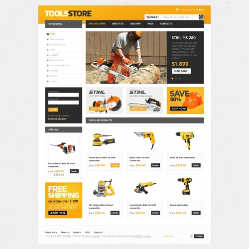 Tools Store - VirtueMart Template