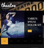Entertainment Facebook HTML CMS  Template 42206
