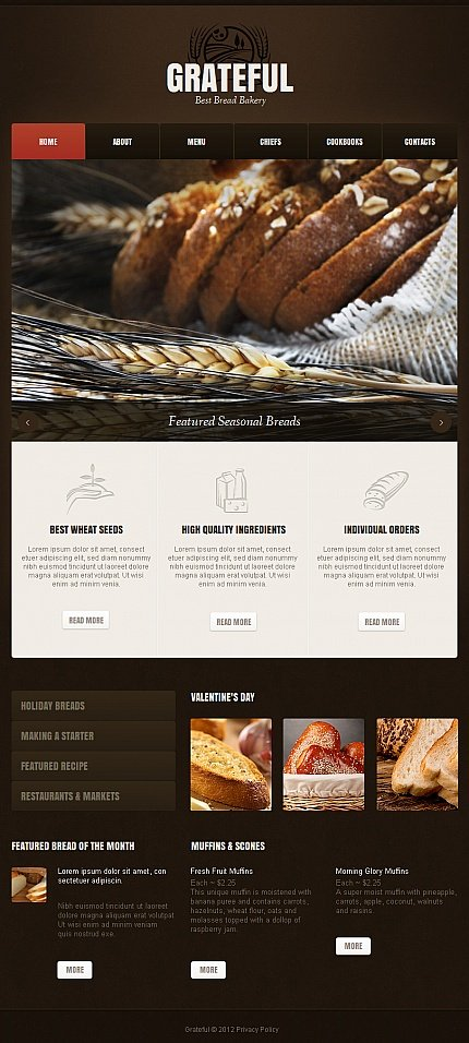 ADOBE Photoshop Template 42209 Home Page Screenshot