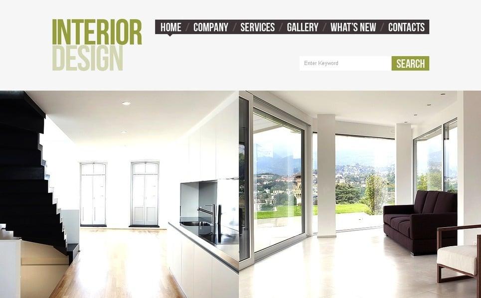 Premium facebook html cms template interieur design 42213 for Interieur design software