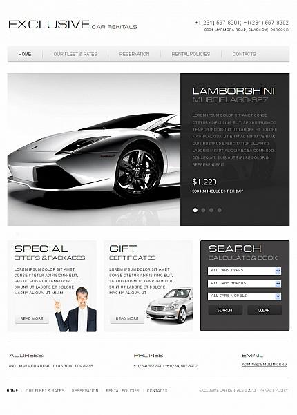 ADOBE Photoshop Template 42224 Home Page Screenshot