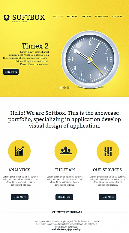 ADOBE Photoshop Template 42225 Home Page Screenshot