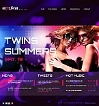 Night Club Facebook HTML CMS  Template 42227