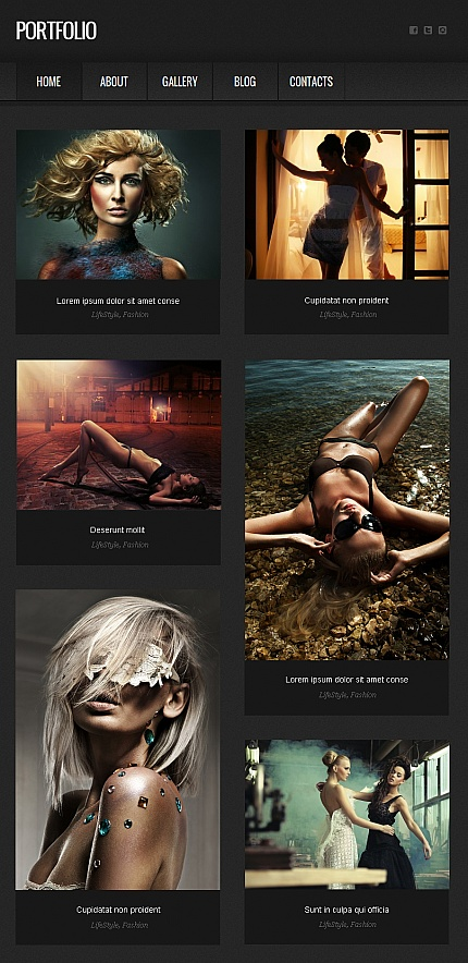 ADOBE Photoshop Template 42228 Home Page Screenshot