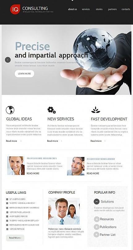 ADOBE Photoshop Template 42237 Home Page Screenshot