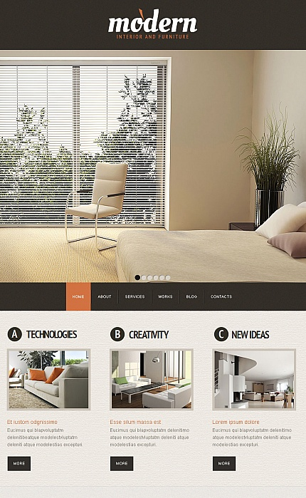 ADOBE Photoshop Template 42238 Home Page Screenshot