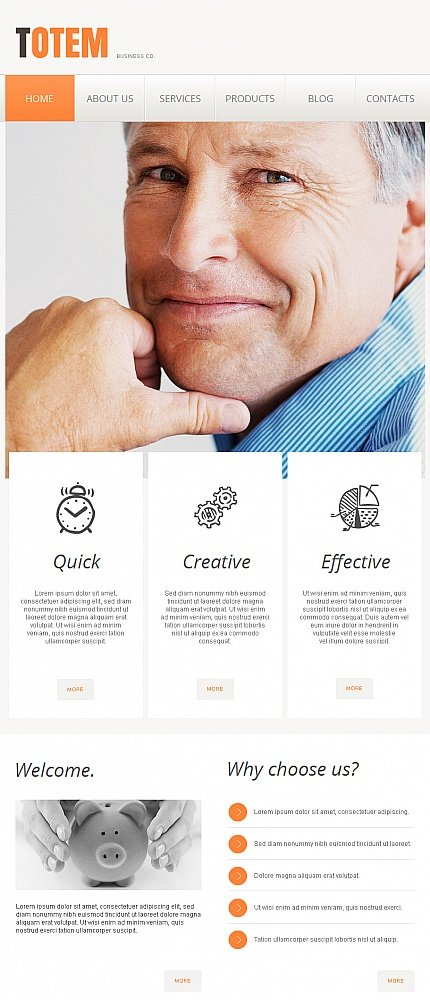 ADOBE Photoshop Template 42239 Home Page Screenshot