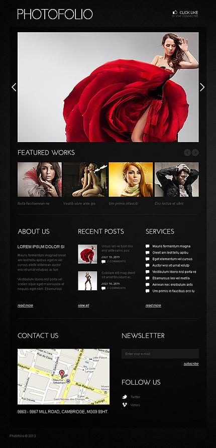 ADOBE Photoshop Template 42244 Home Page Screenshot