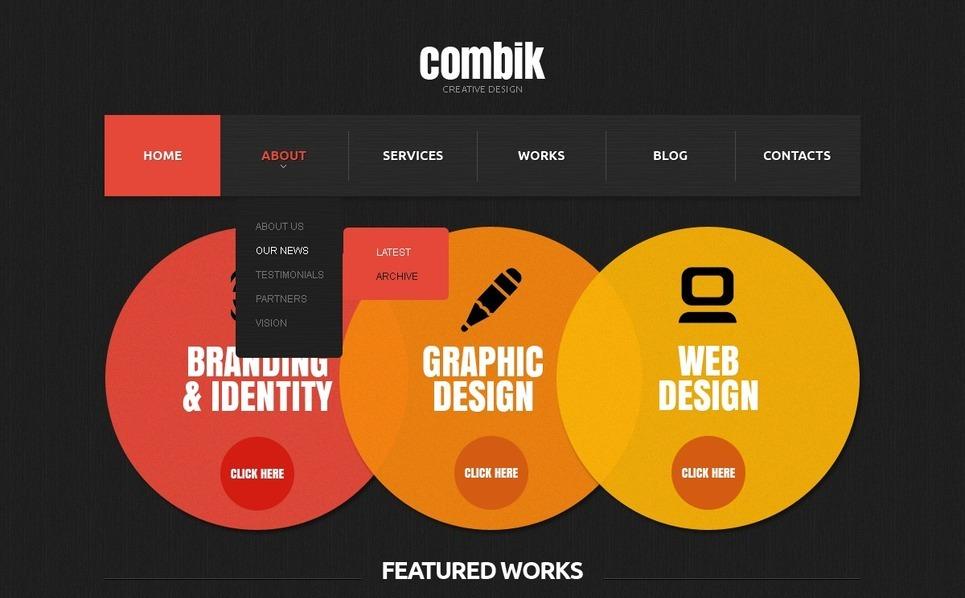 Modèle Web Bootstrap  pour site de studio de design New Screenshots BIG