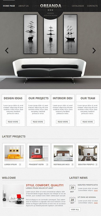 ADOBE Photoshop Template 42260 Home Page Screenshot