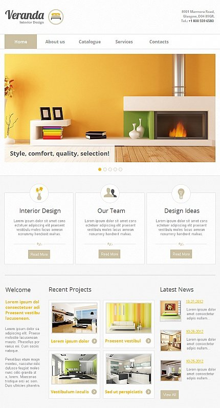 ADOBE Photoshop Template 42263 Home Page Screenshot