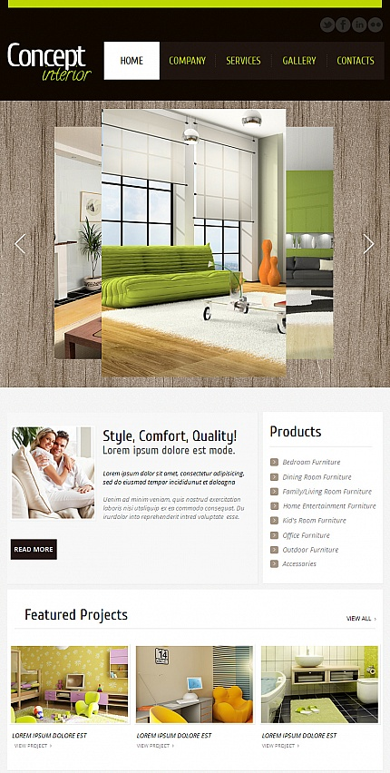 ADOBE Photoshop Template 42266 Home Page Screenshot
