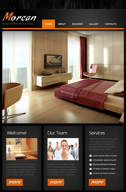 ADOBE Photoshop Template 42269 Home Page Screenshot