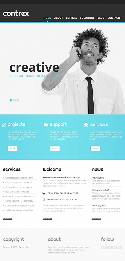 ADOBE Photoshop Template 42271 Home Page Screenshot