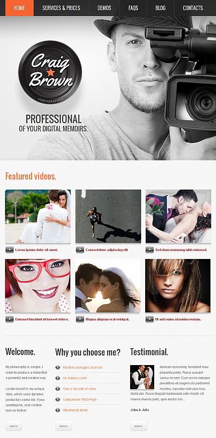 ADOBE Photoshop Template 42272 Home Page Screenshot
