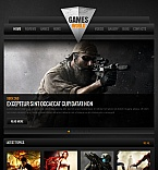 Games Facebook HTML CMS  Template 42273