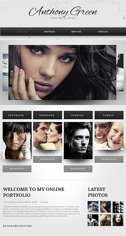 ADOBE Photoshop Template 42277 Home Page Screenshot