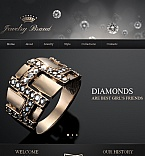 Jewelry Facebook HTML CMS  Template 42278
