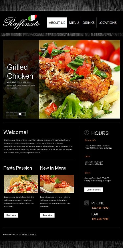 ADOBE Photoshop Template 42279 Home Page Screenshot