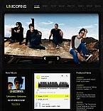 Music Facebook HTML CMS  Template 42284
