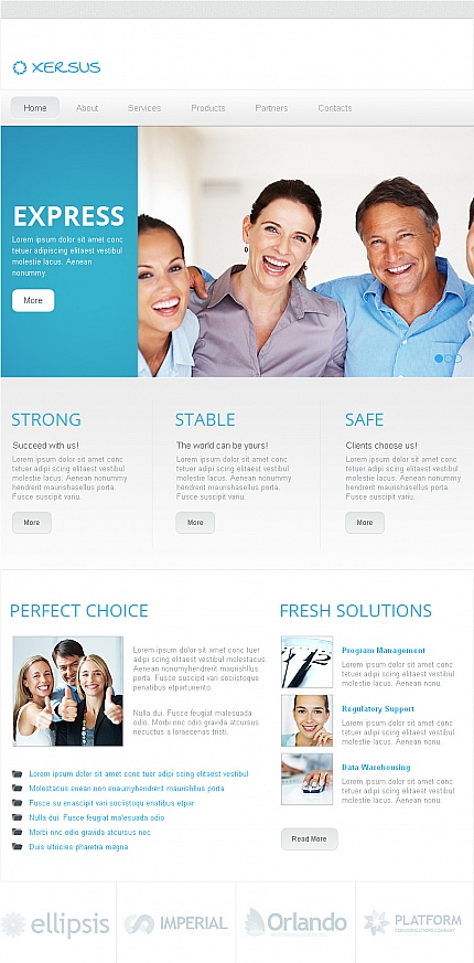 ADOBE Photoshop Template 42285 Home Page Screenshot