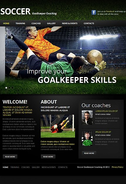 ADOBE Photoshop Template 42297 Home Page Screenshot