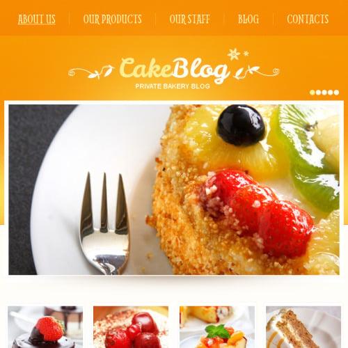 Cake Blog - Facebook HTML CMS Template